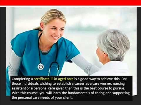 How will CHC30212 Certificate III in Aged Care Advance Your Career? - YouTube
