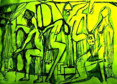 "Saatchi Art Artist Luigi Magliulo; Drawing, ""characters"" #art"