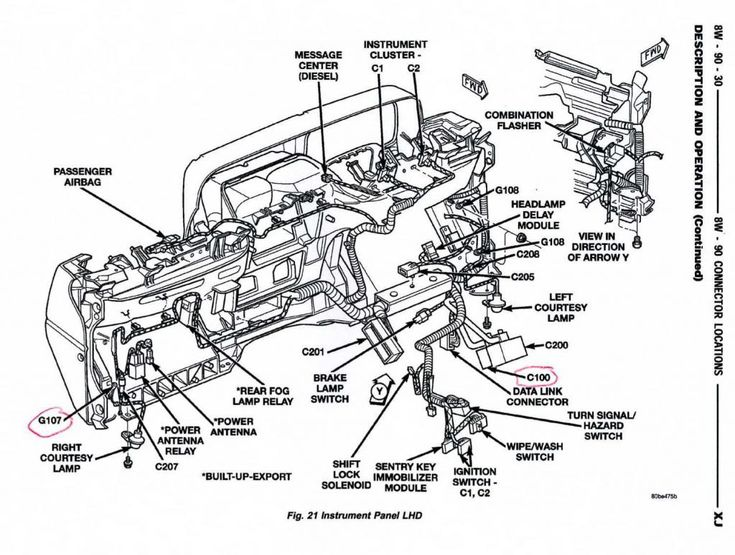 jeep cherokee engine wiring harness diagram