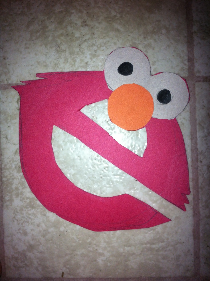 17 best images about letter e on pinterest elephant for Elmo arts and crafts