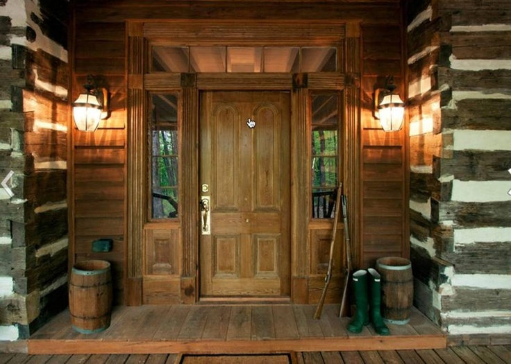 17 best images about rustic cabin style on pinterest for Rustic front porch