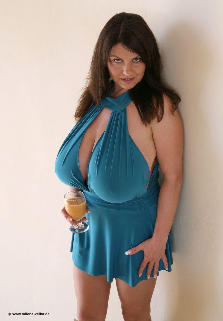 Milena Velba  Beautiful  Pinterest  Voluptuous Women, Blouse Dress And Nice Dresses-7079