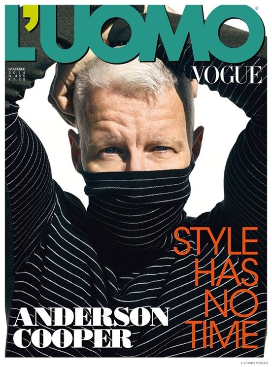 Anderson Cooper Covers November LUomo Vogue, Embraces Sartorial Fashions for Photo Shoot image Anderson Cooper LUomo Vogue November 2014 Cover Photo Shoot 001