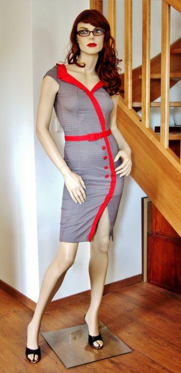 La robe Mad Men | ROBES PIN UP ATTITUDE : Cette robe sexy en diable semble tout droit sortie de la fameuse série américaine Mad Men. http://www.pinupattitude.com/gamme.htm?products_name=La+robe%20Mad%20Men_id=1#  #robe #vintage #oldschool #rock #pinup #attitude #retro #50s #rockabilly #glam #bettiepage #madmen