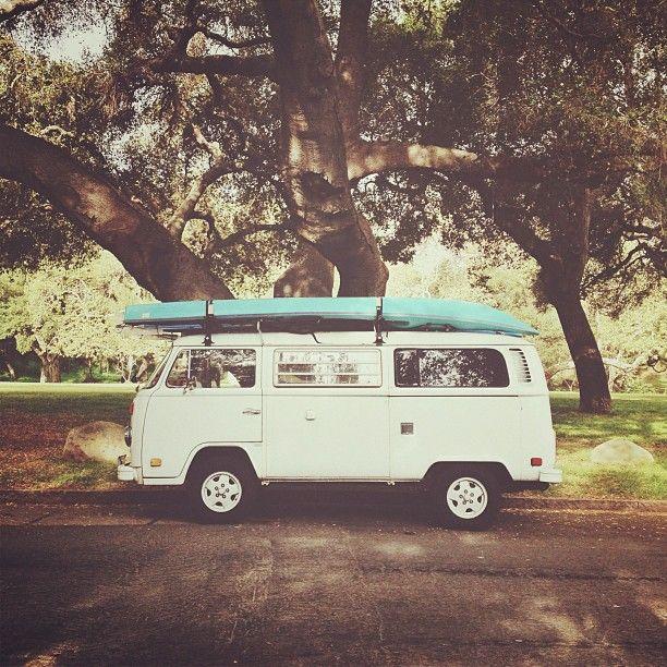 ❦ VW Bus and Kayaks #lulusrocktheroad