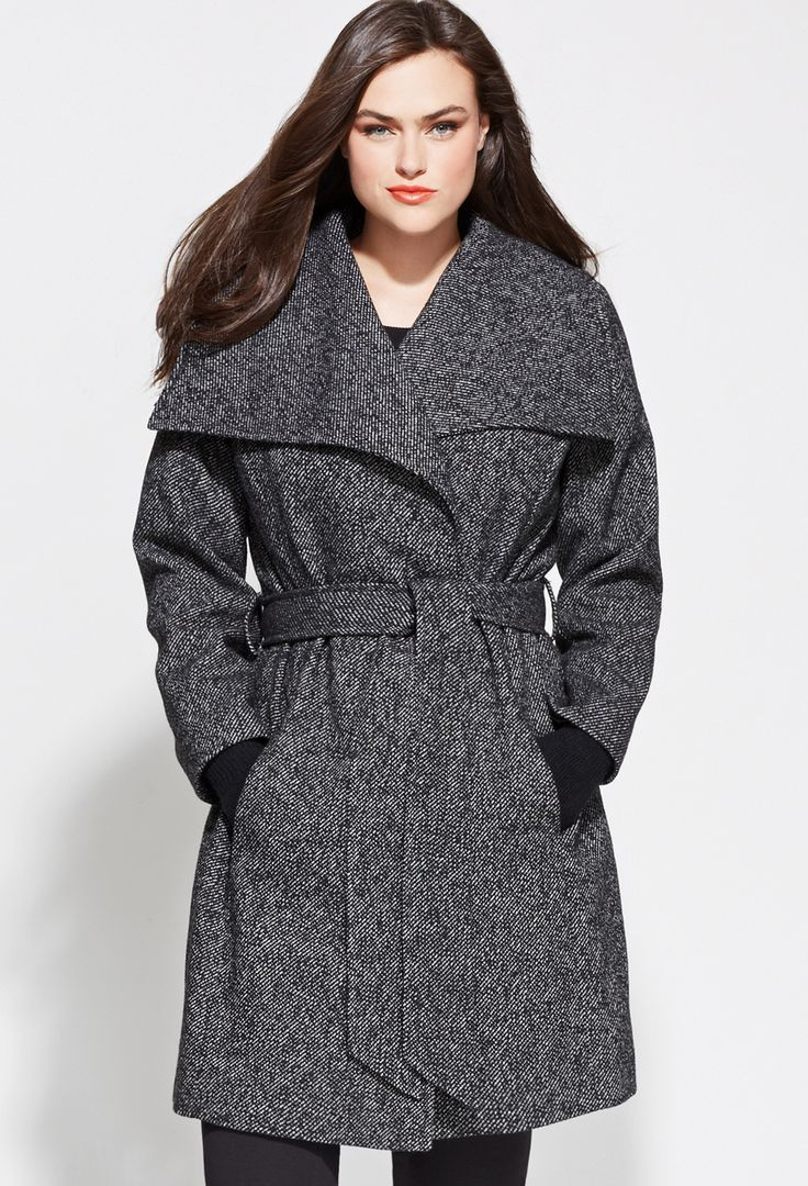 Belted Tweed Coat | Plus Size Outerwear | Avenue