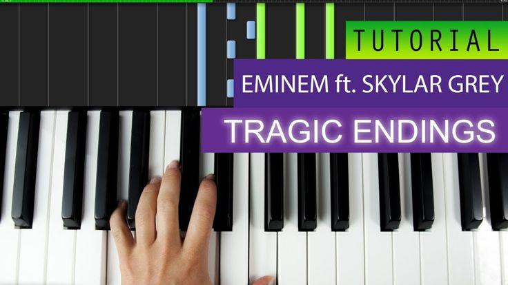 Eminem - Tragic Endings (feat. Skylar Grey) - Piano Tutorial + MIDI