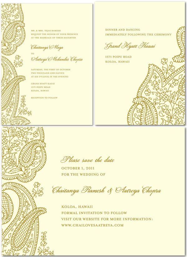 Indian Wedding Invites Wording