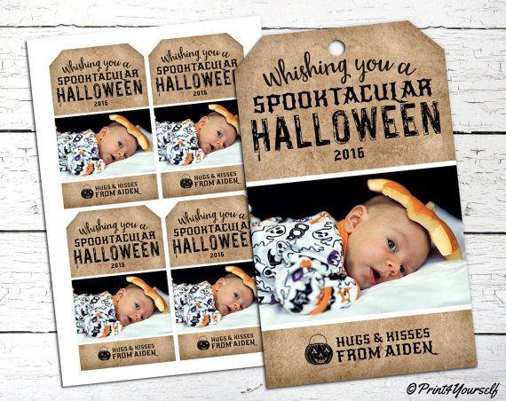 Halloween Tags // Personalized Printable by Print4Yourself on Etsy