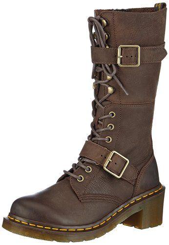 CHILLANY Stiefel - Botas de cuero para mujer, color marrón, talla 35