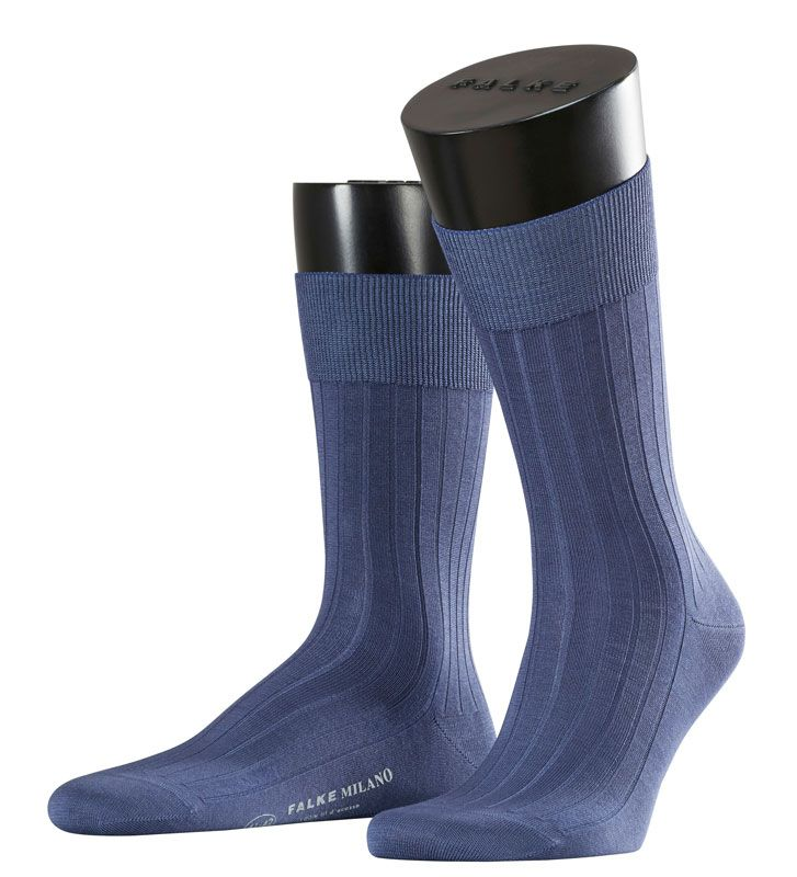 Falke Milano Socks crafted from silky Fil d'Ecosse cotton.  Free worldwide delivery available.