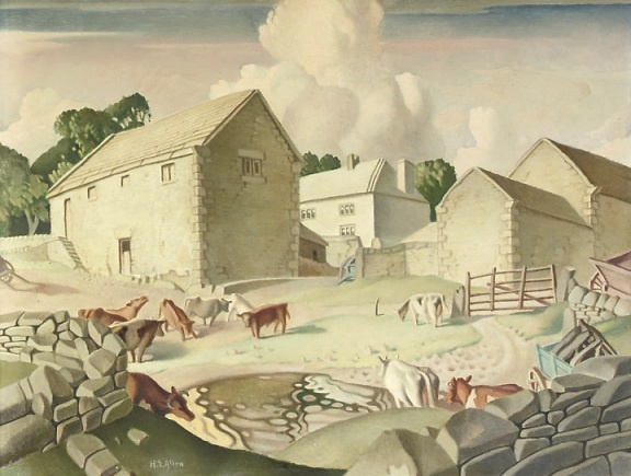 Art Inconnu - Little-known and under-appreciated art.: The Derbyshire of Harry Epworth Allen (1894-1958) The Farmyard.