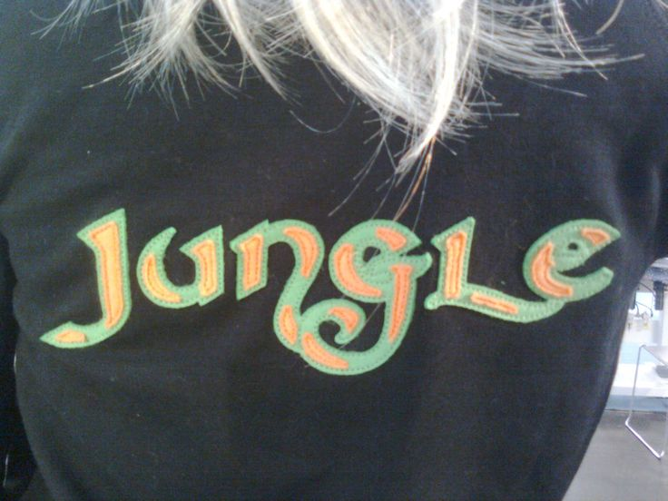 Double layer #appliqué on woman hoodie