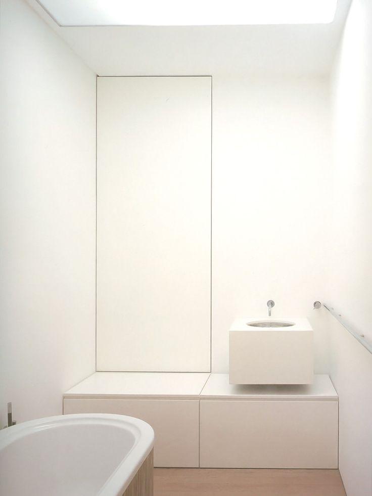 Banheiro com cores leves