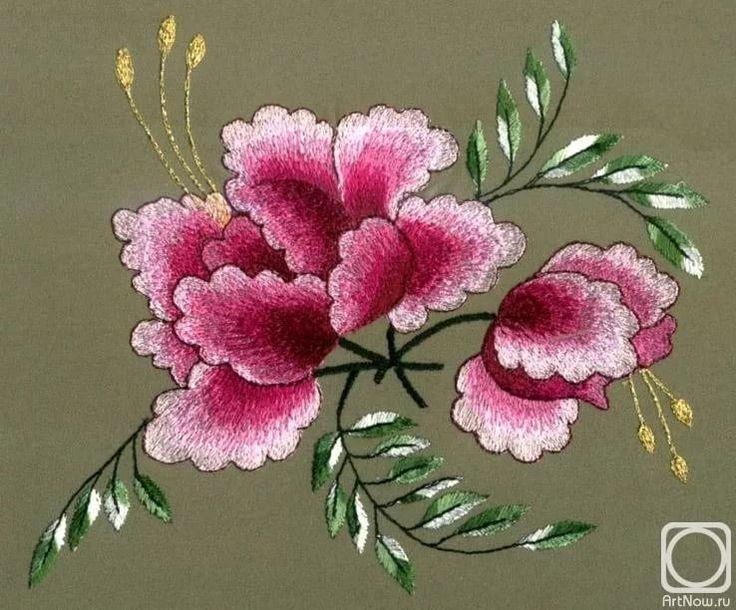 рисунок пиона,розы для вышивки гладью: 18 тыс изображений найдено в Яндекс.Картинках