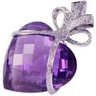 #Amethyst #Diamond #LoveHeart #Brooch #Pins #Jewellery