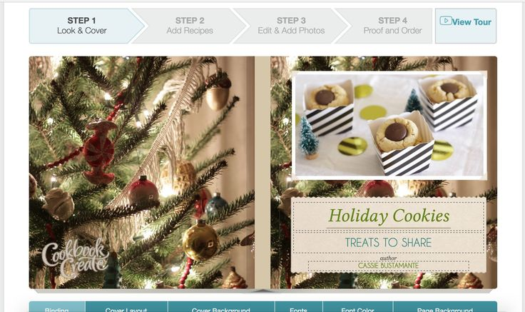 Cookbook Create Cover Photo- make your own cookbook online!  great gift idea!