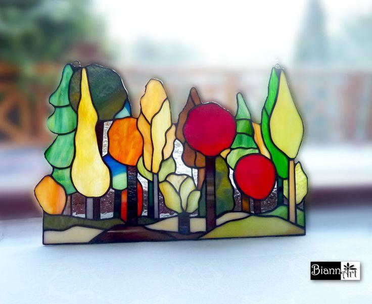 #stainedglass #trees #witraż #las