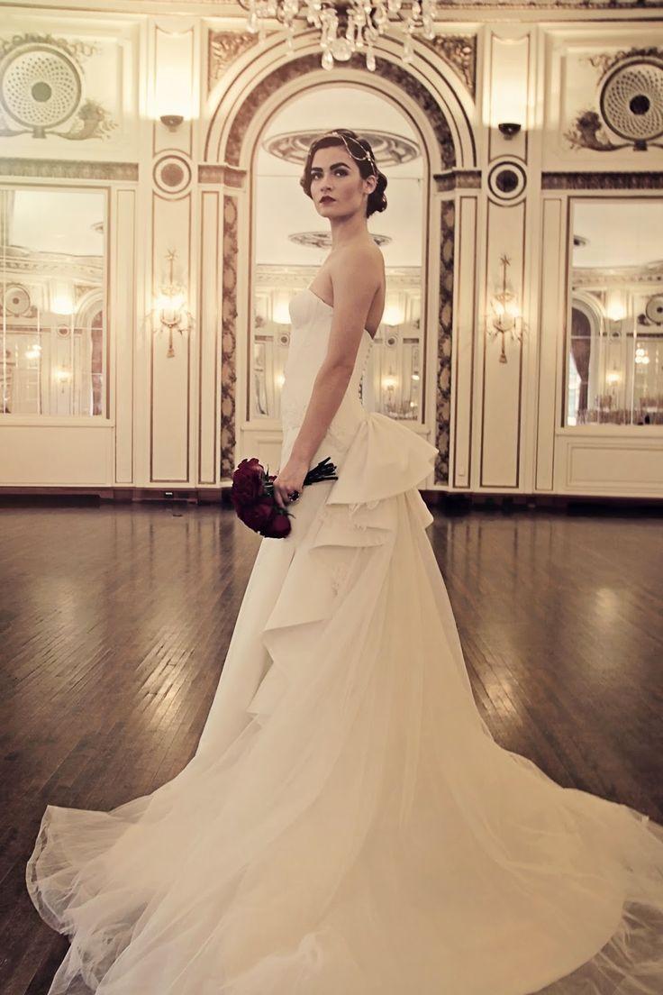 truly zac posen wedding gown - metro detroit bride winter/spring 2015