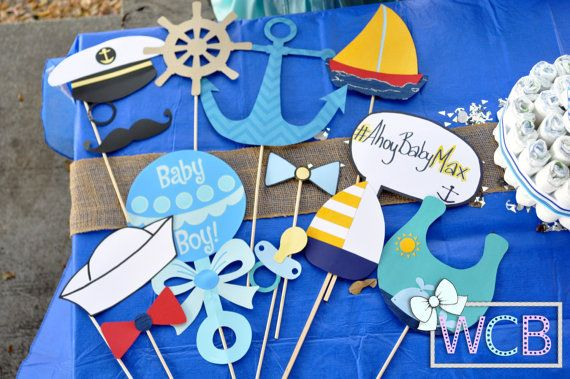 Nautical Themed Photo Booth Props | Photo Props | Sea, Maritime, Ocean, Beach