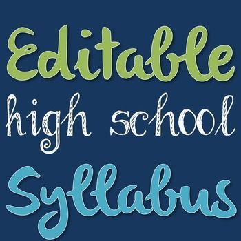 Start out on the right foot! High school students should have a syllabus just like their college counterparts. By introducing students to this concept early they will be better prepared later in life. Syllabi also function as a sort of contract between te