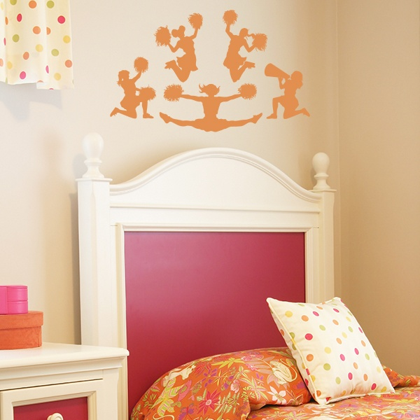 Cheerleader wall decals sports wall decals pinterest for Cheerleader wall mural