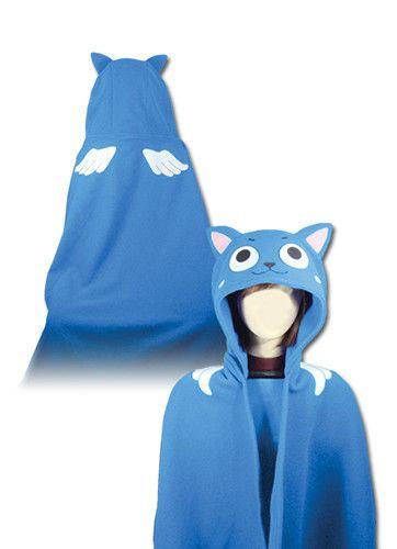 Fairy Tail Happy Hoodie Blanket - Alpine Anime