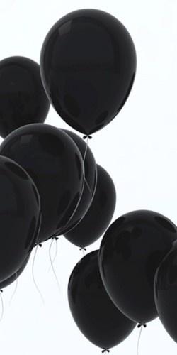 #black #balloons