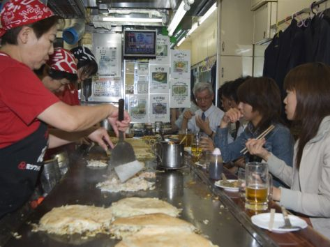 Okonomiyaki Restaurant, Hiroshima City, Japan