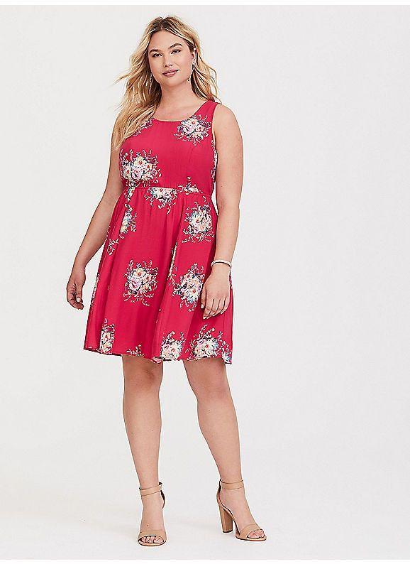 a1a73105a35d TORRID : Pink Floral Tie-Back Challis Mini Dress   The Perfect ...