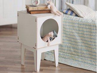 Mesa-de-cabeceira / Caixa para brinquedos de madeira compensada BOO - Baltic Promo