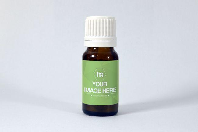 Brown Medical Bottle Label Mockup - Mediamodifier - Online mockup generator