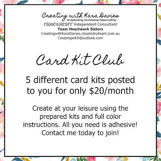 Creating with Kara Davies: Card Kit Club