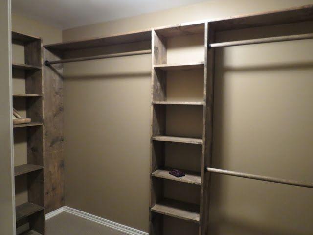 DIY closet shelves - Walk-in closets: No more living out of laundry baskets!