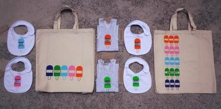 Quirky and fun bibs and singlets.