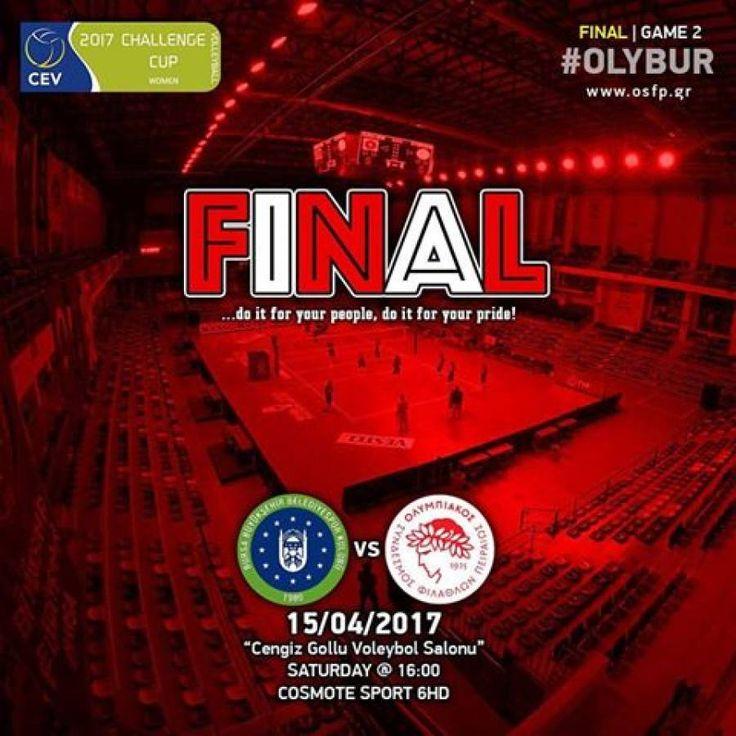 15/04/2017. CEV Chalenge Cup Women 2016-17. 2nd final. Cengiz Gollu Sports Hall-Bursa. Bursa Buyuksehir - Olympiakos SFP 3-0.