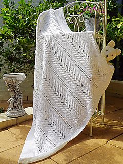Lace and Cable Blanket