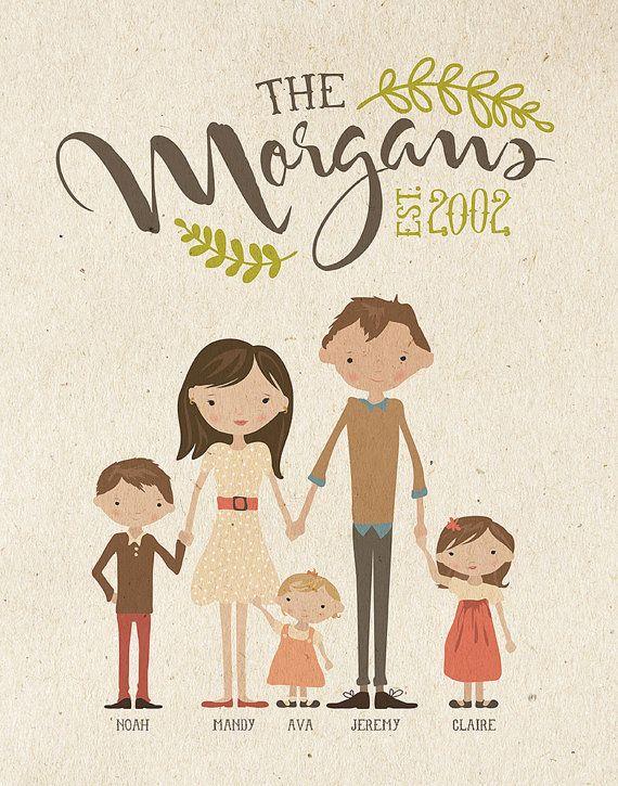 Custom Illustrated Family Portraits | Inklane Design