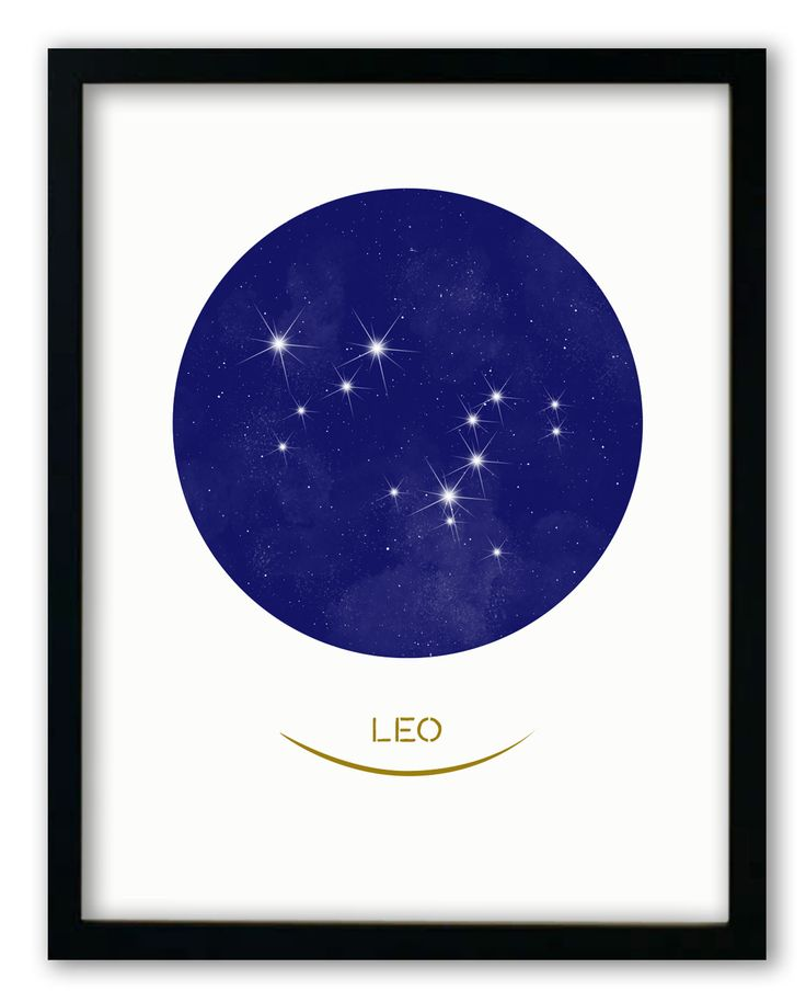 Leo • Stars Print
