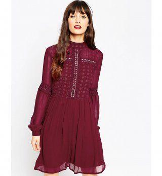 Robe pour petite poitrine : une robe patineuse style victorien, Asos, 62,99€