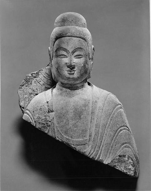 Bust of Buddha, yuan dynasty, stone. Metropolitan Museum of Art