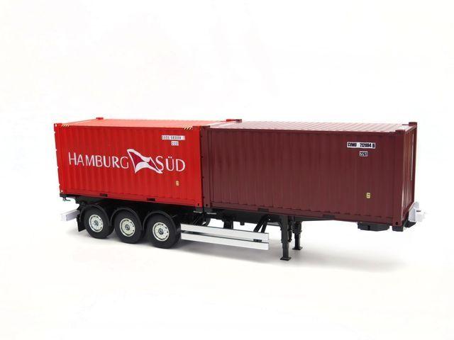 20ft ISO Container Hamburg Süd aus Metall Aufgebaut/lackiert