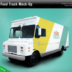 food truck mockup template allpsd net psd vector freebies