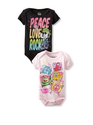 90% OFF Freeze Baby Yo Gabba Gabba Bodysuit Bundle (Light Pink/Black)