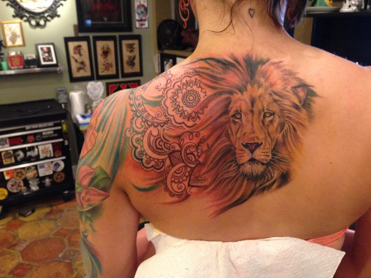 Mehndi Lion Tattoo : Mejores im�genes de henna lion tattoo en pinterest