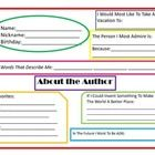 Interactive Student Notebook About the Author Printable Meant to be cut out, filled out by students, and pasted into an Interactive Student Noteboo...