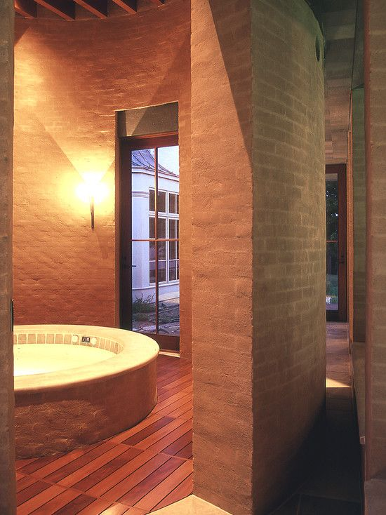 Gorgeous Pool House Design in Luxury House: Beautiful Buffum Poolhouse Interior Modern Indoor Hot Tub