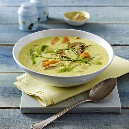 Kartoffel-Kokos-Suppe mit knackigem Gemüse Rezept