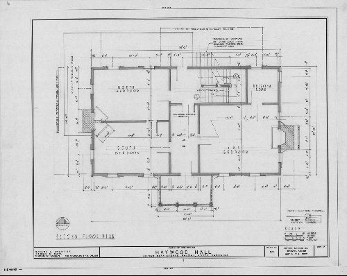 Second Floor Plan Haywood Hall Raleigh North Carolina From NCSU Libraries