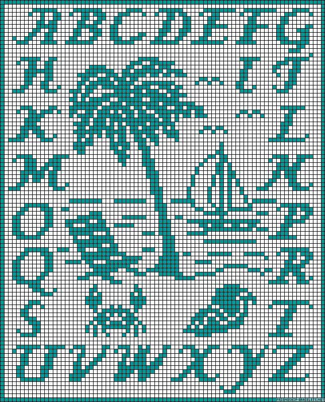 ABC Summer perler bead pattern